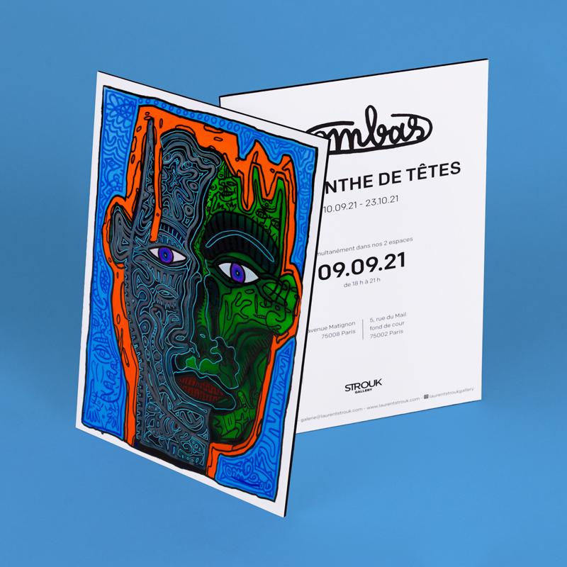 Multicolor print invitation